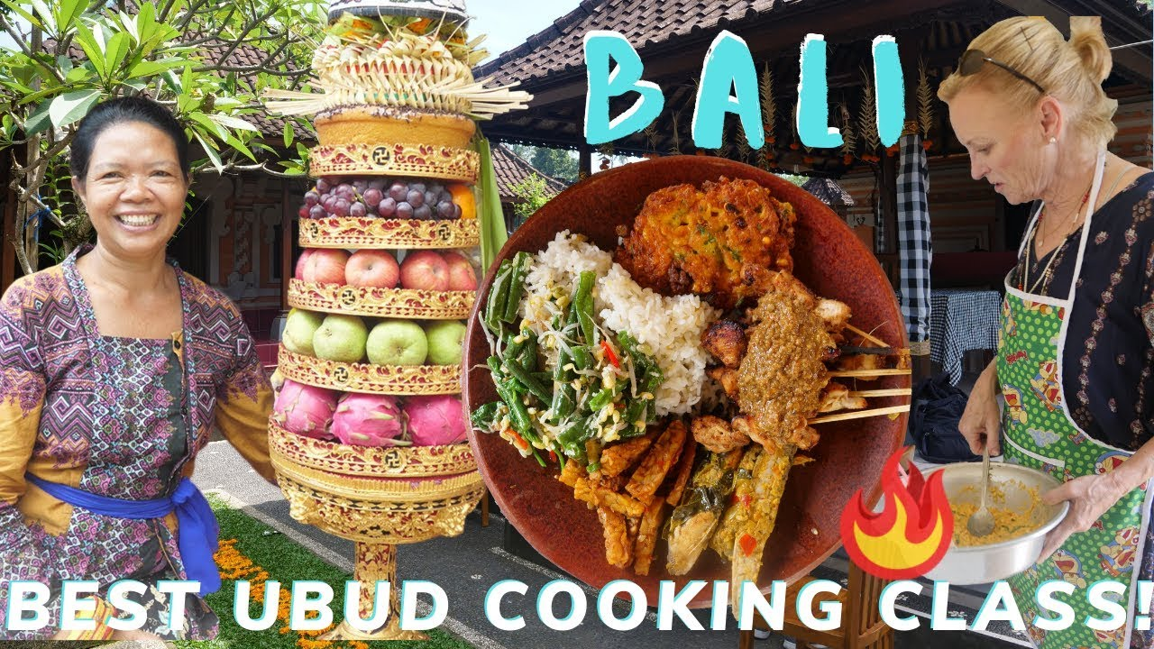 Best Cooking Class in UBUD Bali ?? (Real Indonesian Food in Balinese Home & Fresh Market)