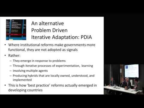 Matt Andrews: The Limits of Institutional Reform in Development