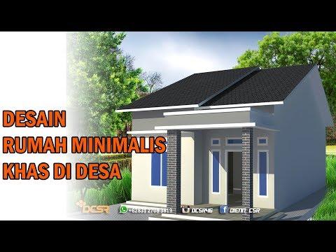 desain rumah sederhana khas rumah di kampung menggunakan