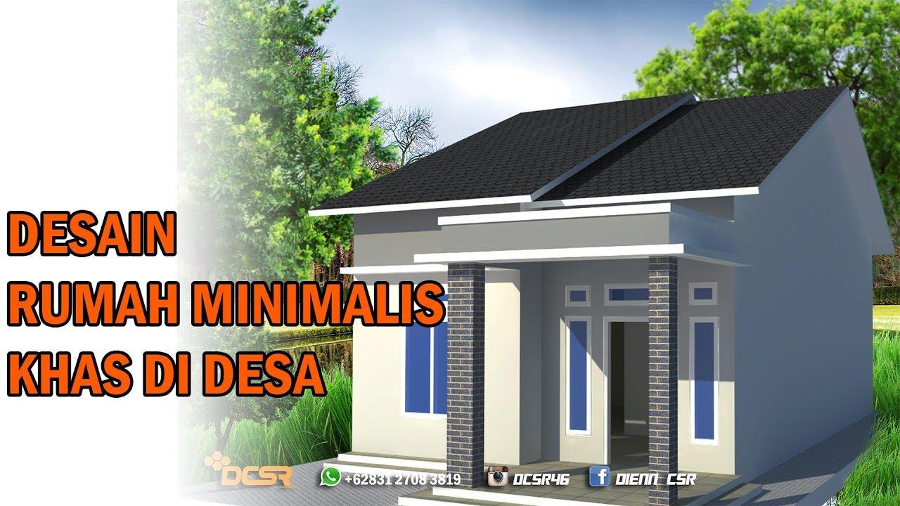 Desain Rumah Sederhana Khas Rumah Di Kampung Menggunakan Google Sketchup Youtube