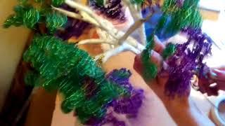 Глициния дерево из бисера.2 часть