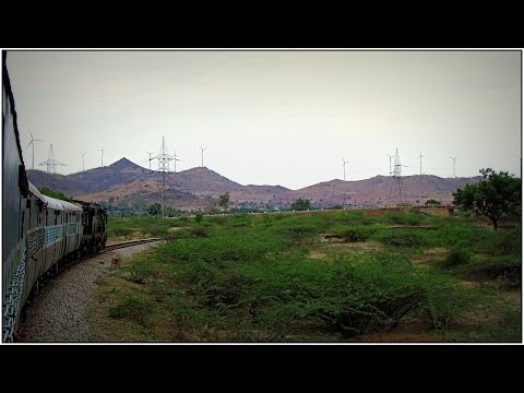 INDIAN RAILWAYS Train Journey through the rugged Deccan Plateau, a ride behind twin diesel Locos