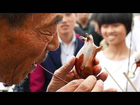 Chinese Street Food - SUGAR BLOWING TOYS Candy Animals China