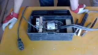 Самодельный аппарат для сварки скруток.(Сварочный аппарат предназначеный для сварки скруток при электромонтажных работах- пример подобного самод..., 2014-05-15T10:24:05.000Z)