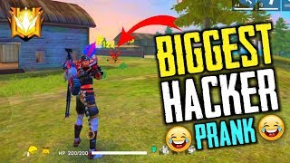 Biggest Free Fire Hacker Prank with Tik Tok Star - Garena Free Fire- Total Gaming