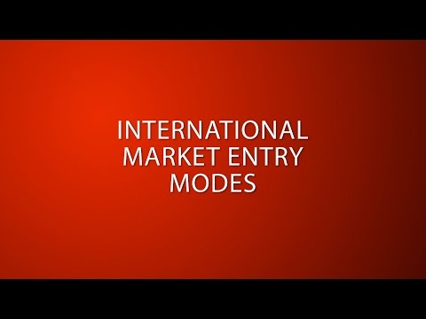 09. International market entry modes