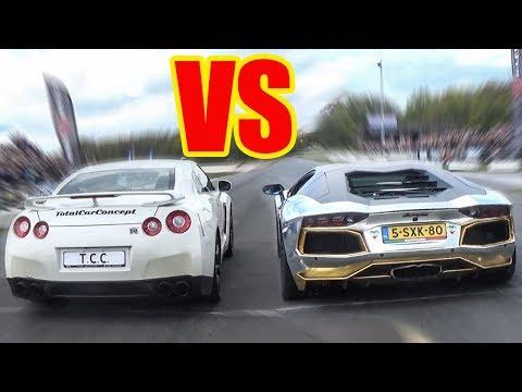 Nissan GTR Vs Lamborghini Aventador Vs Audi R8 V10 Plus🚀🚀🔥