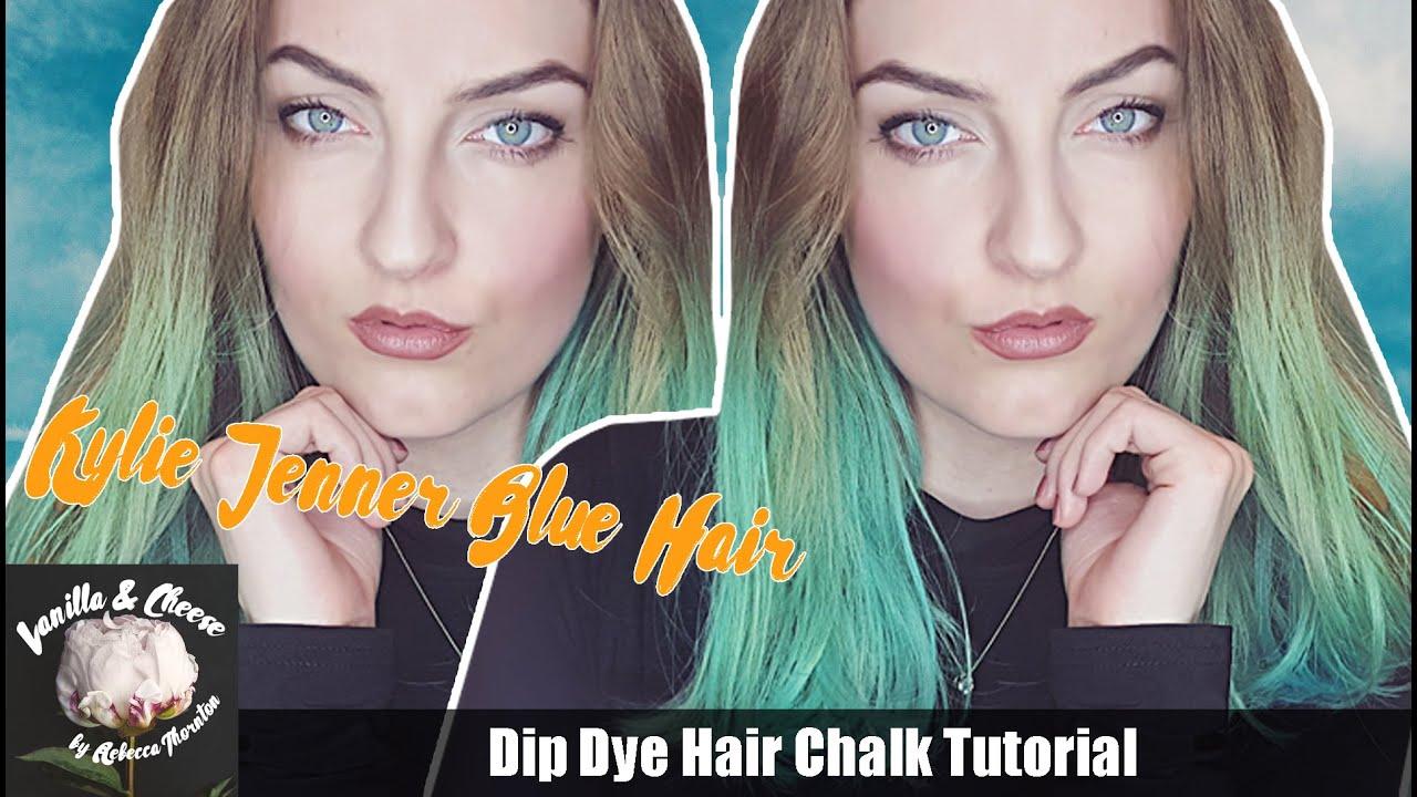 Hair Chalk Tutorial Kylie Jenner Green Hair Youtube