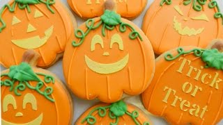 How To Decorate Jack-o-lantern Cookies