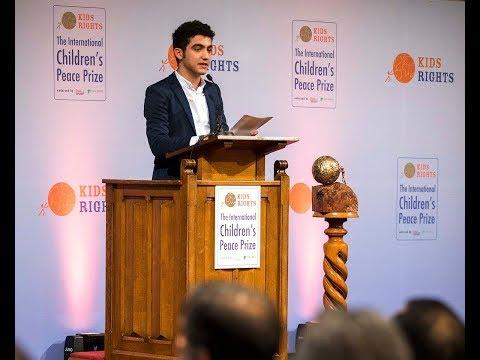 International Children's Peace Prize 2017 winner Mohamad Al Jounde acceptance speech