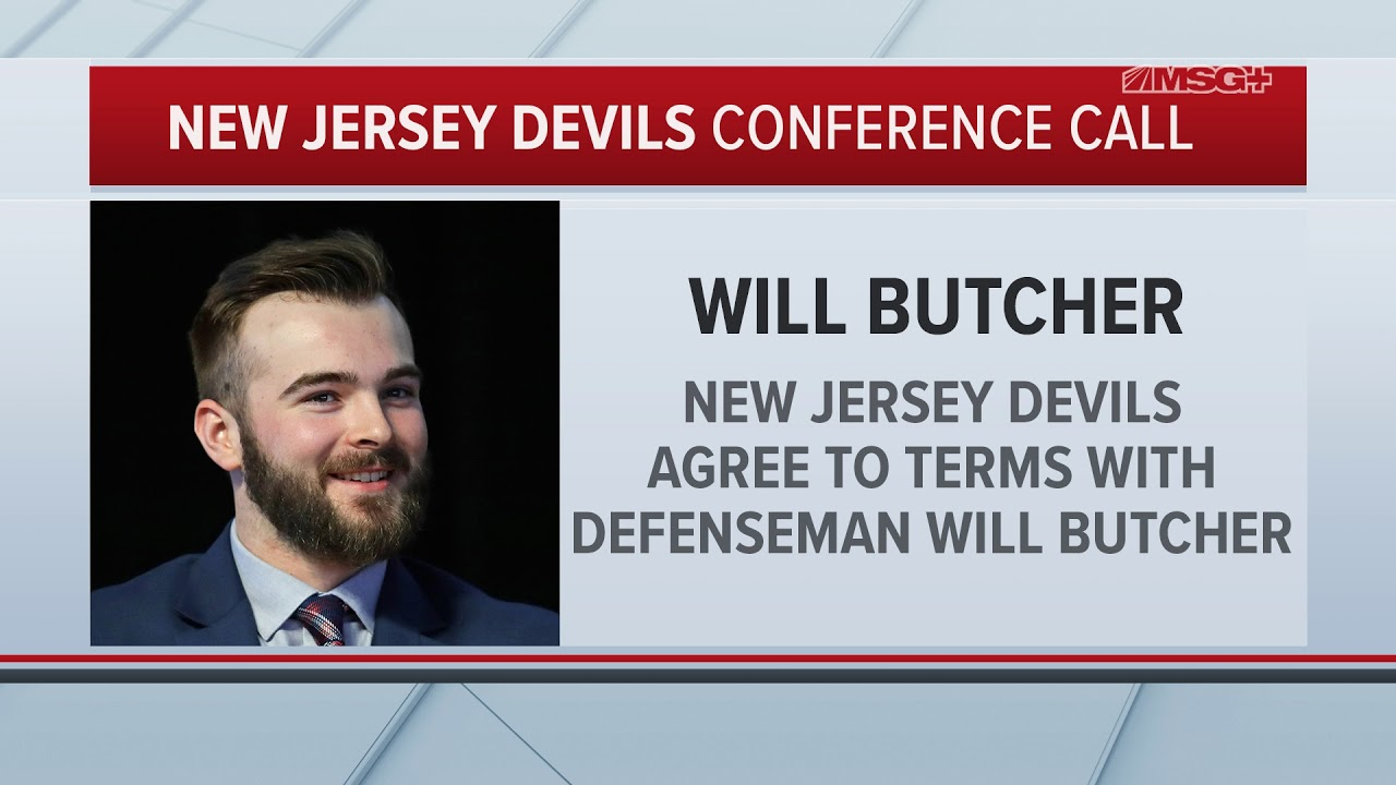 best service 05d15 5d0c1 Will Butcher on Signing With New Jersey Devils: It's the Right Fit for Me |  MSG Networks