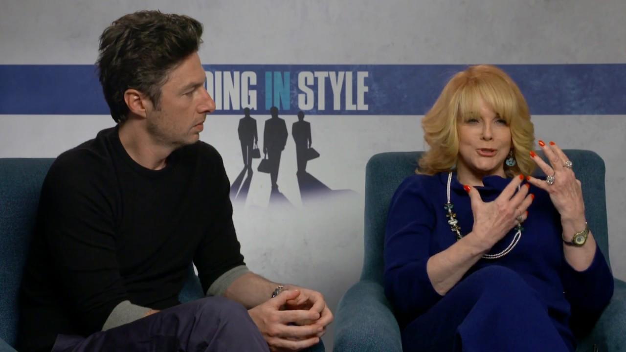 going in style exclusive movie interview ann margret and going in style exclusive movie interview ann margret and zach braff