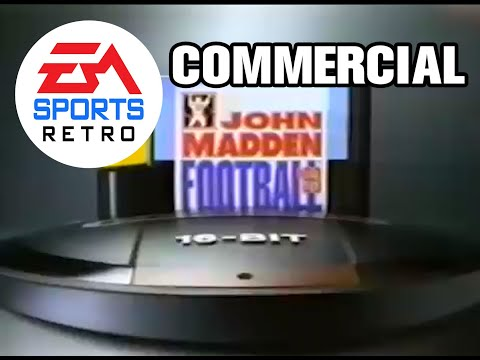 EA Sports John Madden Football 93 commercial (gimme gimme gimme) for Super Nintendo and Sega Genesis