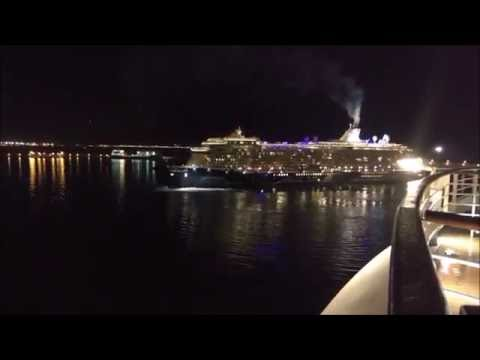 Mein Schiff 3 leaving Port of Palma  23.8.2016