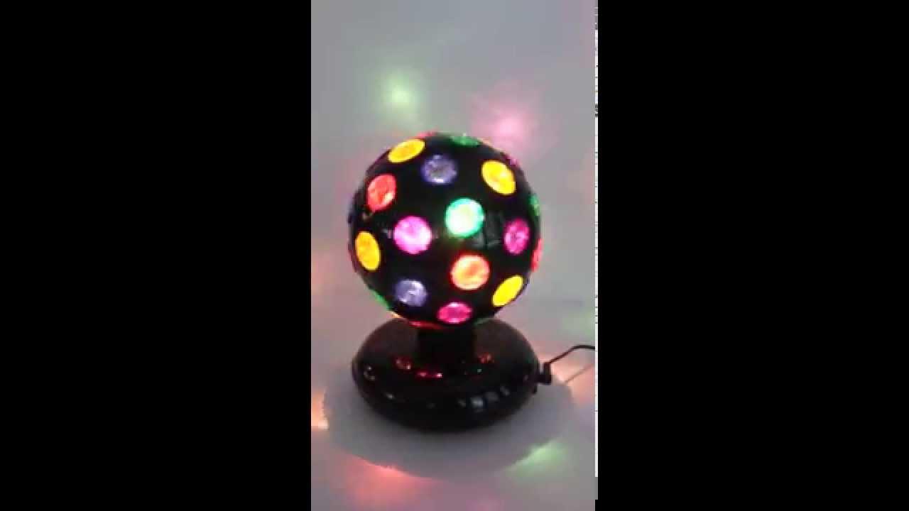 Spinning Disco Ball Light Youtube
