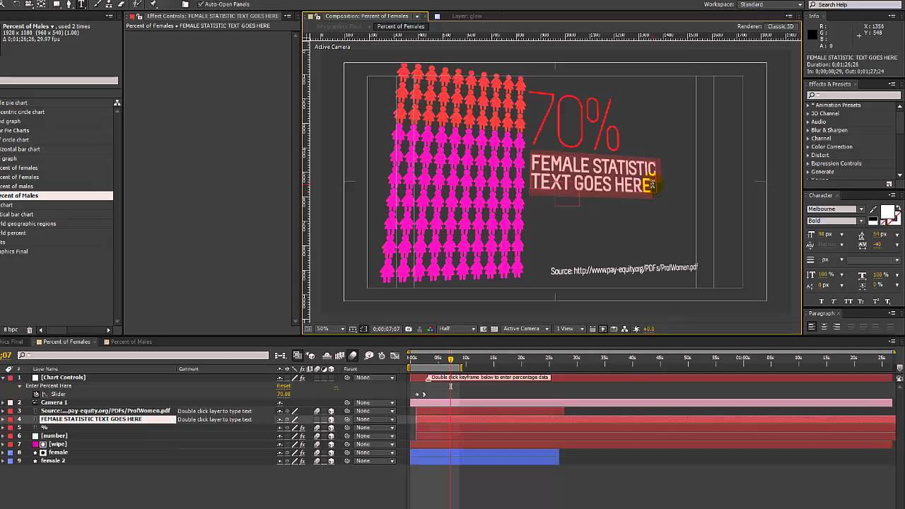 Infographics After Effects Template- Male and Female Chart ...