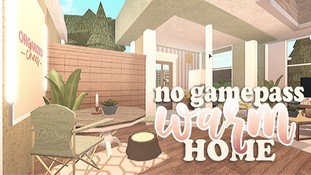 Warm Spring House No Gamepass Bloxburg Youtube Spring Home Two Story House Design Cute House