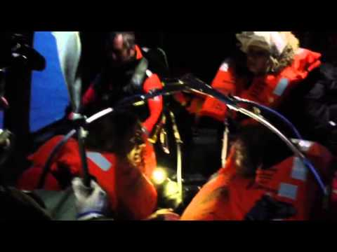 Norman Atlantic, Helicopter rescue people during night operation