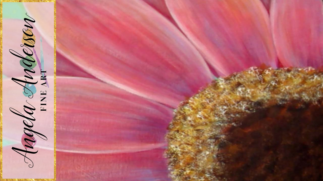 Gerbera daisy acrylic painting tutorial for beginners part 1 gerbera daisy acrylic painting tutorial for beginners part 1 free lesson how to paint daisies izmirmasajfo