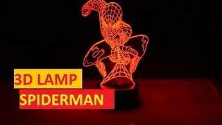 3D lamp Spiderman from Aliexpress | Unboxing