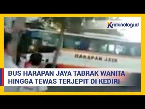Berita Kecelakaan : Bus Harapan Jaya Tabrak Wanita Hingga Tewas Terjepit Roda di Kediri