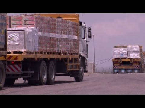 Israeli army video shows food trucks bound for Gaza