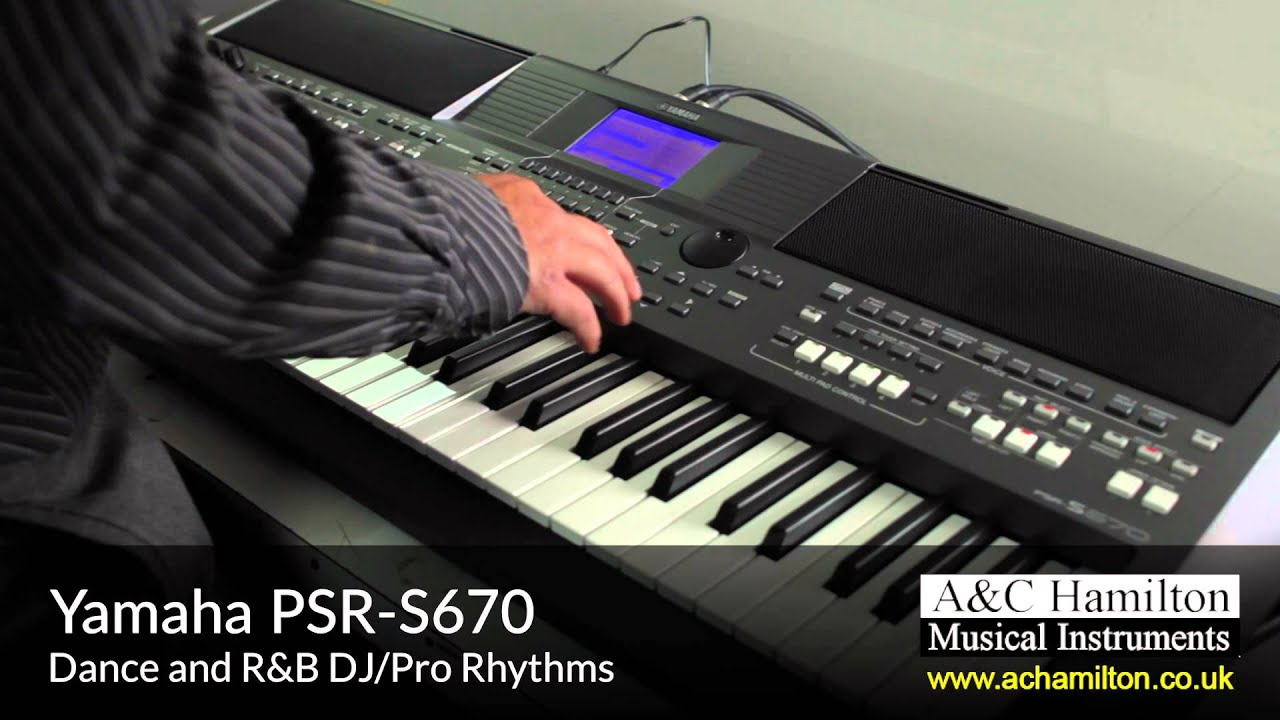 Yamaha psr s670 keyboard a c hamilton youtube for Yamaha professional keyboard price