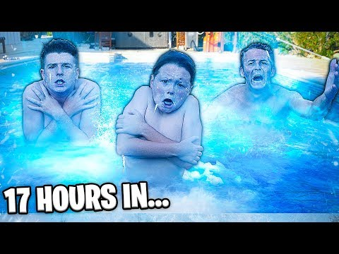 Last To Leave FREEZING POOL Wins $10,000 Challenge!! w/Adam B