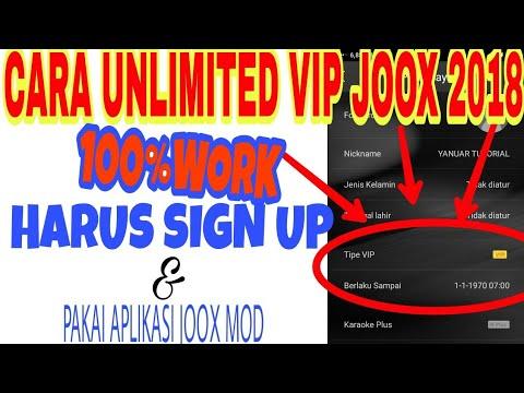 CARA UNLIMITED VIP JOOX MOD 2018 TERBARU!! JOOX MOD HARUS SIGN UP!!