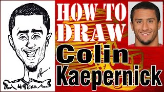 How To Draw A Quick Caricature Colin Kaepernick