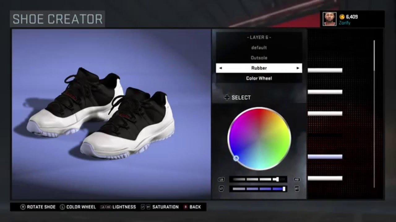 cbf74783e8d4 NBA 2K16 Shoe Creator - Air Jordan 11 Low