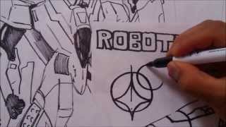 How to Draw Kawaii ROBOTECH MX-15 1#BOCETO X db