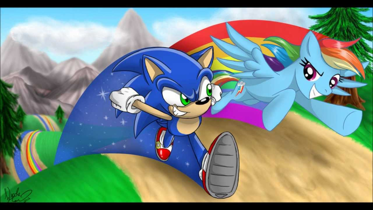 Sonic and Rainbow Dash by Blue-Chica on DeviantArt