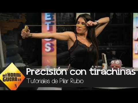 Pilar Rubio demuestra que es una experta en la precisión con tirachinas - El Hormiguero 3.0