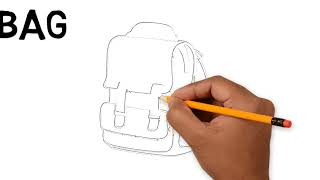 Drawing a bag, how to draw a bag, coloring for kids