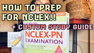 NCLEX-PN STUDY TIPS+ CUSTOM STUDY GUIDE!