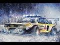TURBO AUDI QUATTRO Power vs SNOW