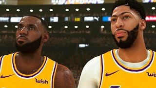 Lebron James TESTS Lakers NEW Roster By Playing NBA 2K With Anthony Davis & Demarcus Cousins!