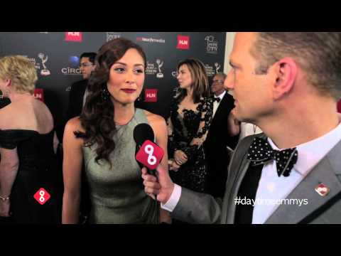 General Hospital's Lindsey Morgan on the Red Carpet at the 2013 Daytime Emmys