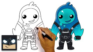 How to Draw RIṖPLEY | NEW Fortnite Season 11 Skin