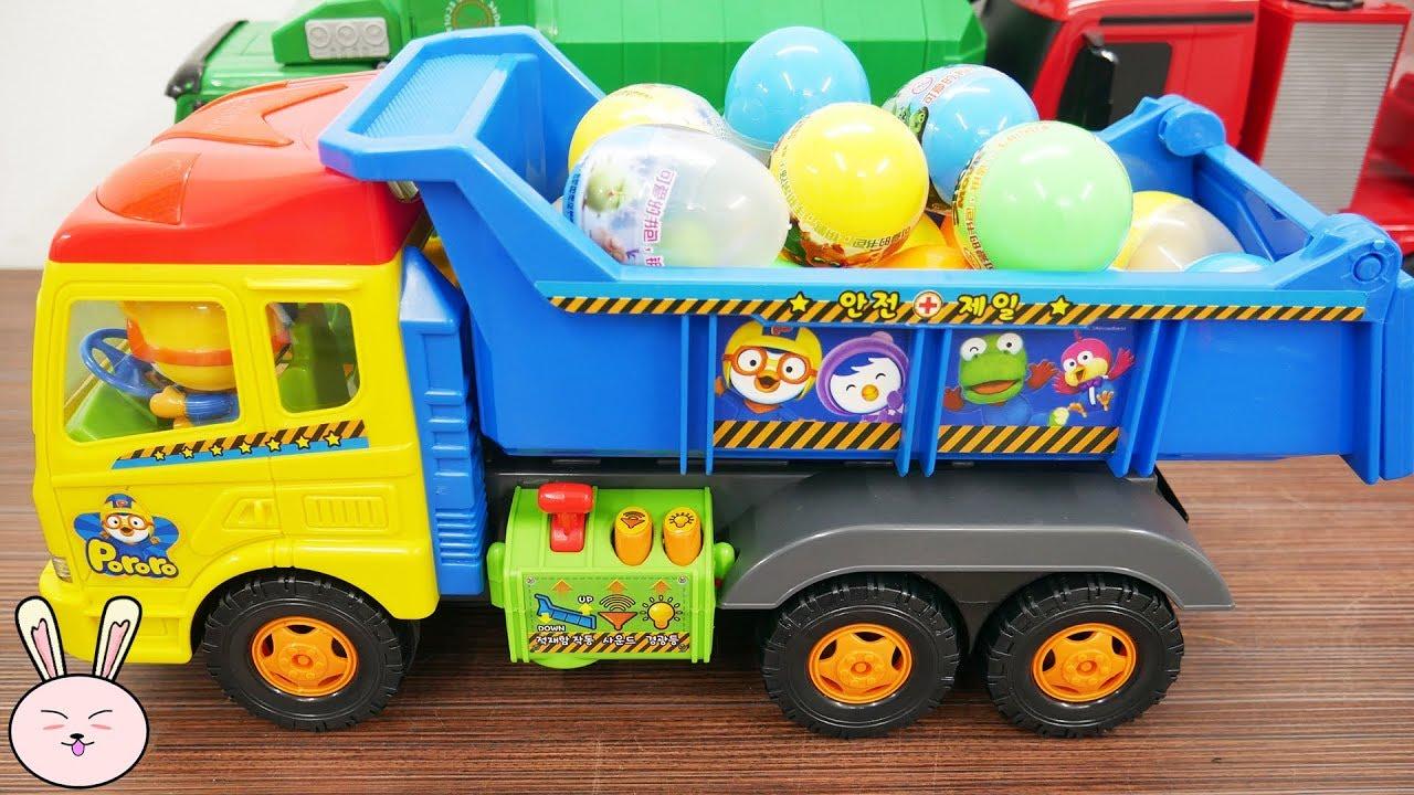 Pororo Dump Truck For Kids Surprise Eggs For Children Kids