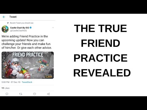 Sneak Peek Friends Practice Revealed Castle Clash