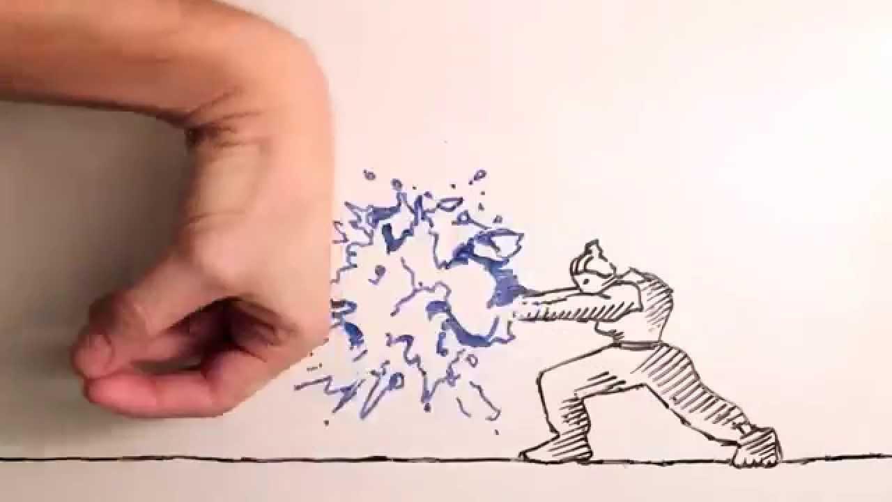 손가락과 싸우는 스톱모션 이미지
