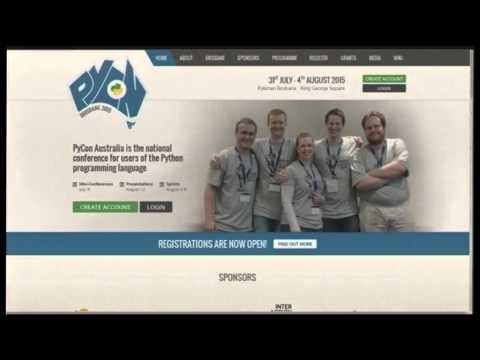 Image from Recreating the Pycon 2015 site in under 30 minutes