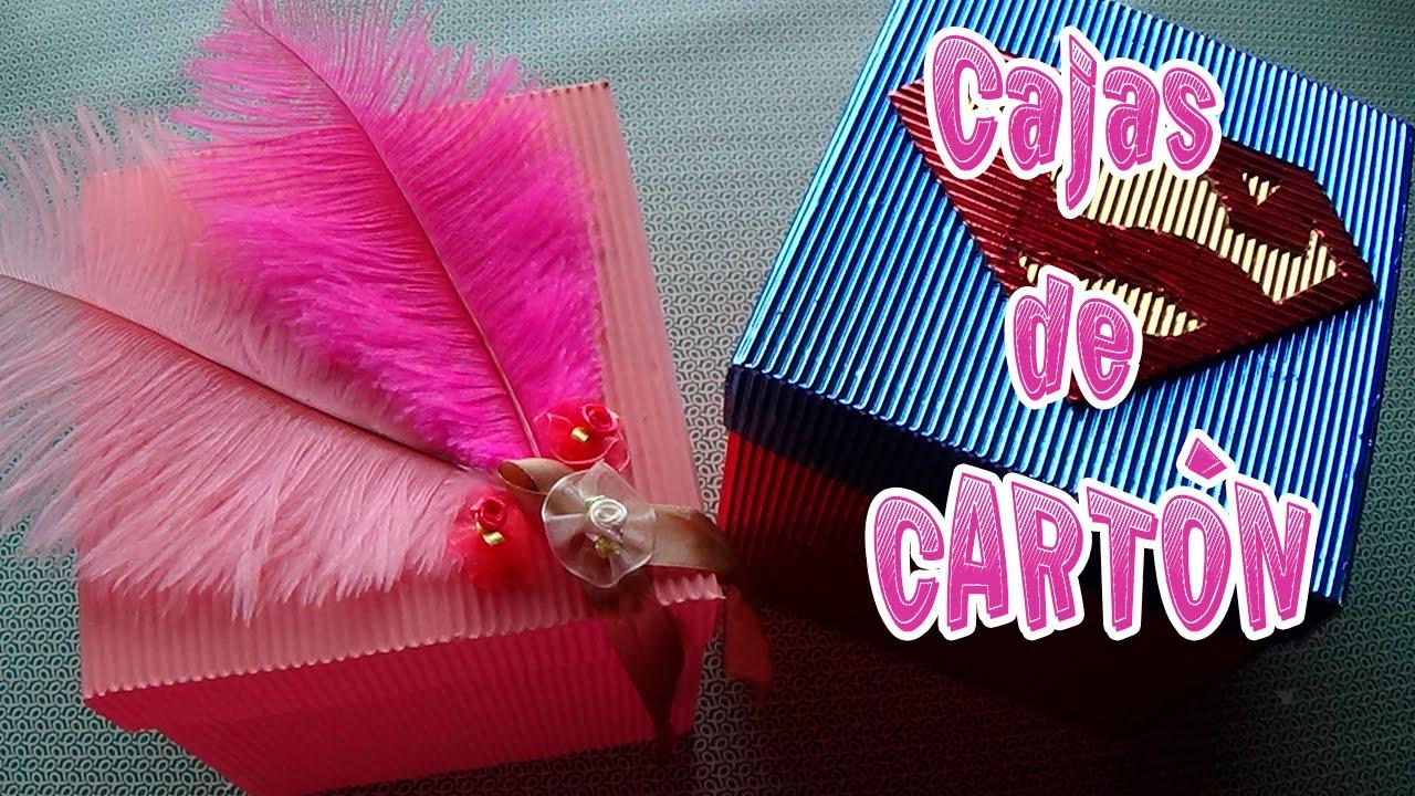 Cómo hacer cajas de cartón│CandyBu - YouTube