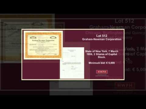 Highlights der 39. Scripophily-Auktion für Historische Wertpapiere am 17. Oktober 2015