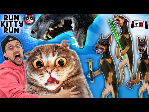 Download CAT LOVERS WILL HATE THIS GAME!!  The Dog Bullies! (FGTeeV RUN Kitty RUN!)