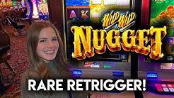 30 Free Games! Wild Wild Nugget Slot Machine! Rare Re-Trigger BONUS!!