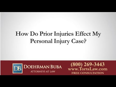 Will Having Prior Injuries Effect My Personal Injury Case? Indianapolis Attorney Explains
