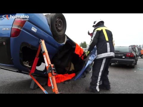 Inverted B Pillar Rip Car on its Roof